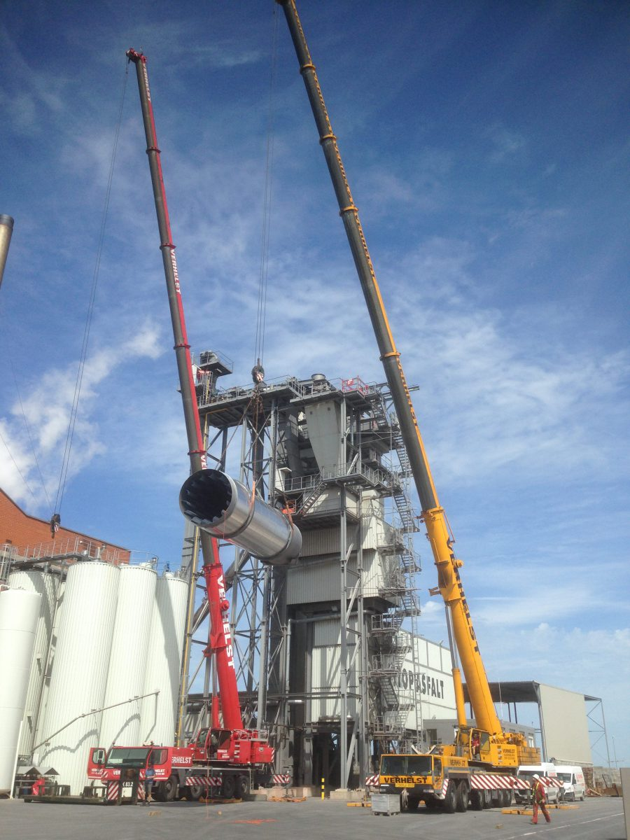 Montage recycling trommel